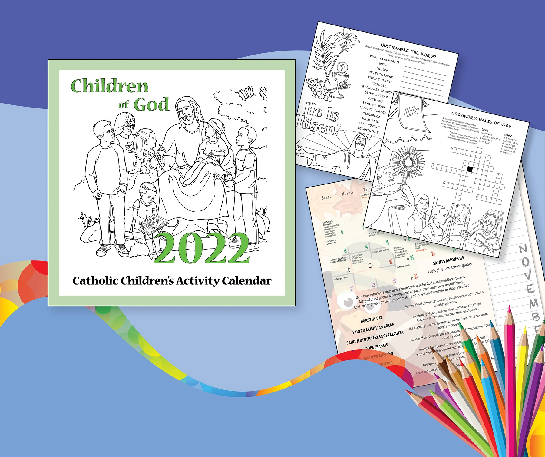 Fun and faith-filled calendar for children and families!