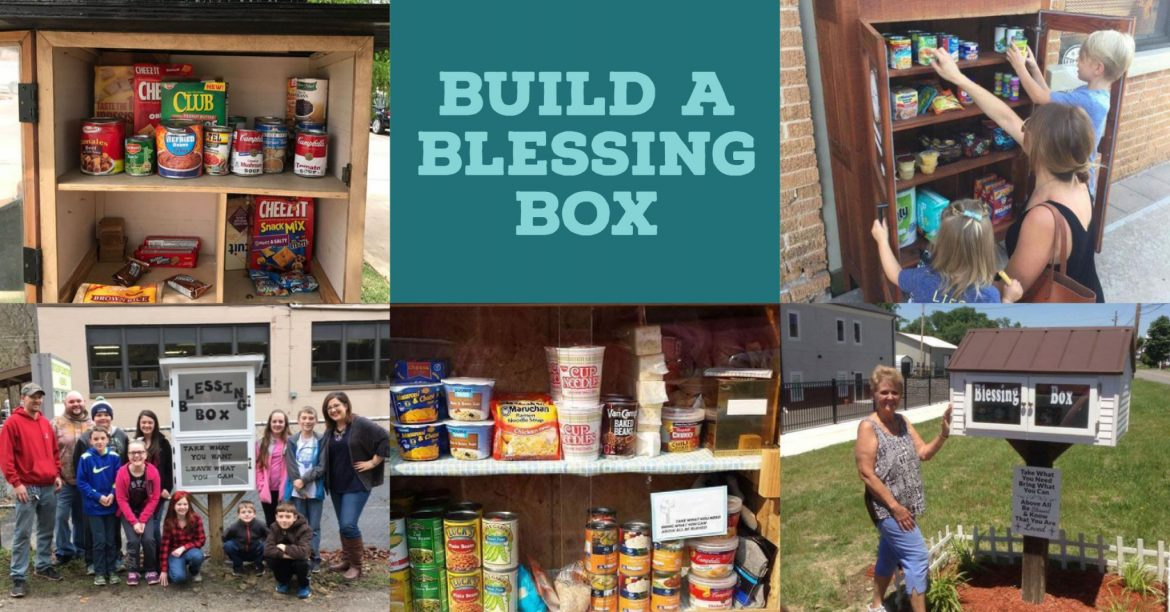 Build a blessing box for neighbors in need