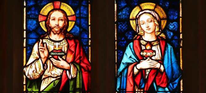 Celebrate the feasts of the Sacred Heart of Jesus and the Immaculate Heart of Mary