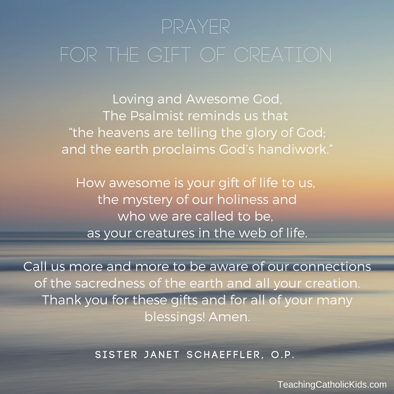 Prayer for the Gift of Creation