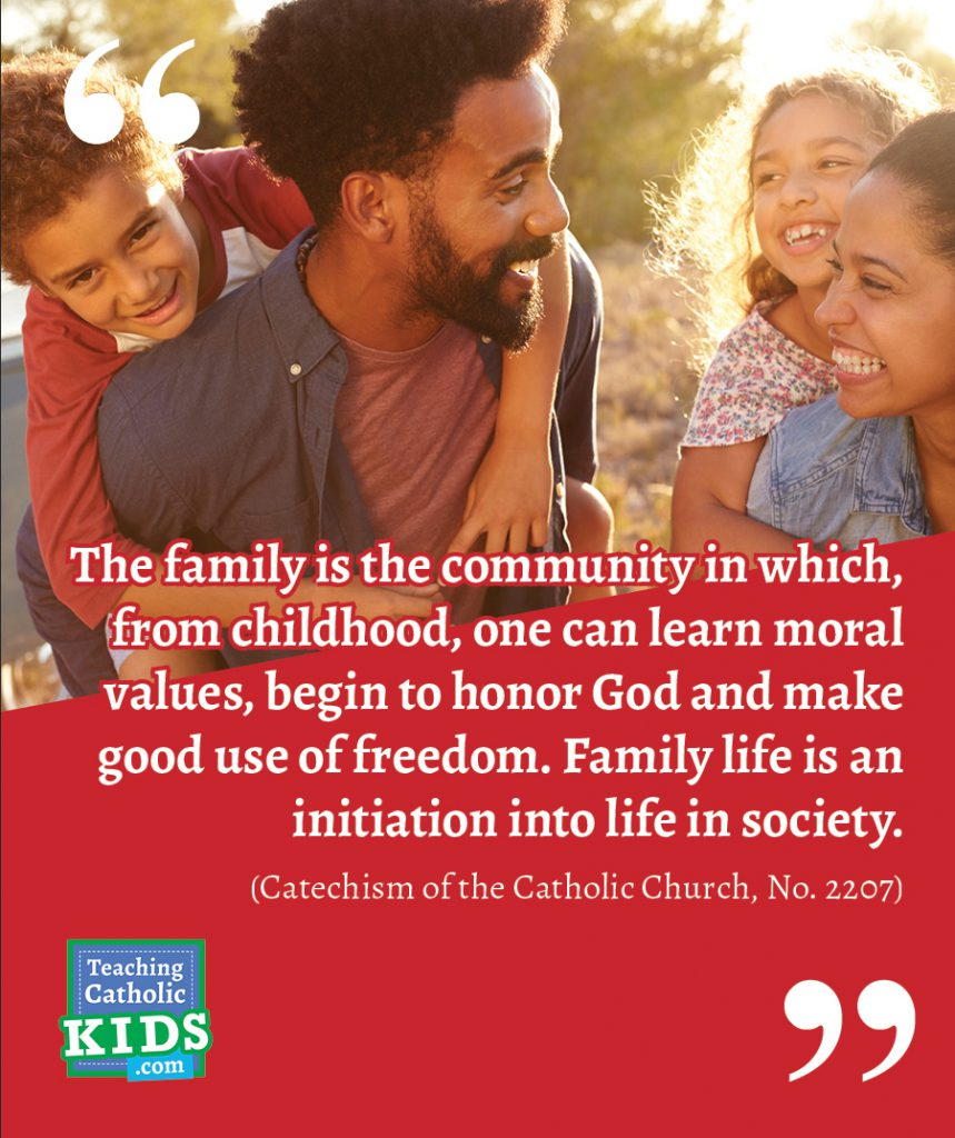 Faith talk for families: Family values