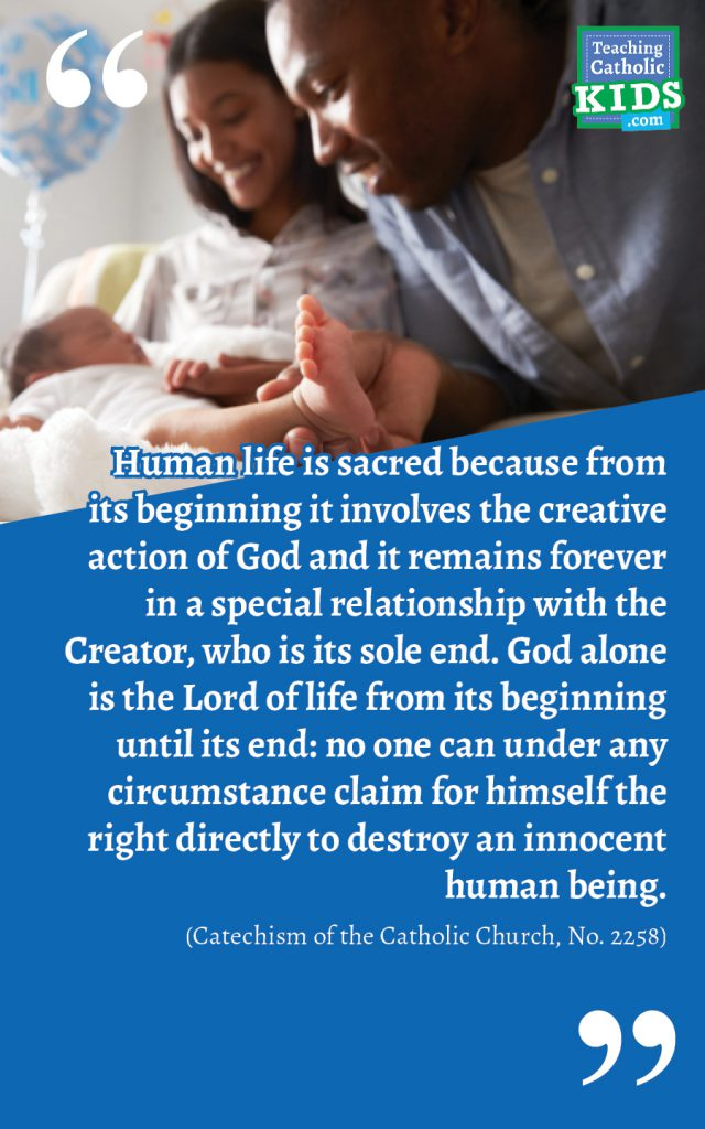 Faith talk for families: Human life is sacred