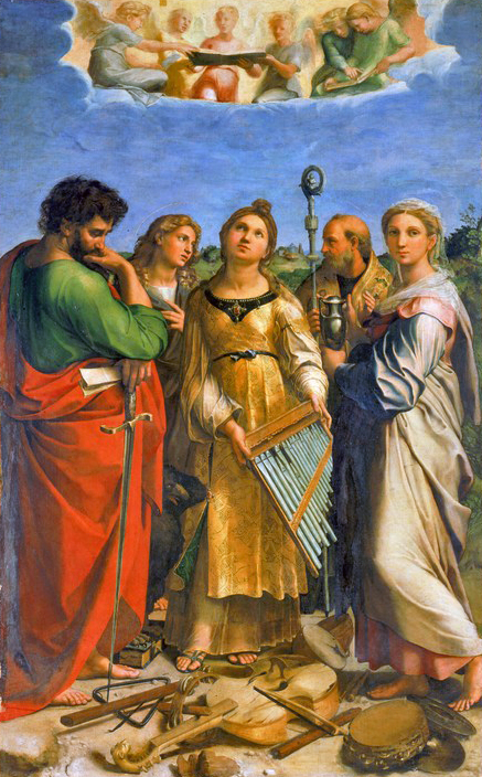 The beautiful painting of St. Cecilia